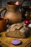 Ainda vida com pão caseiro Foto de Stock