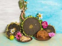 Ainda vida com pastelarias deliciosas Fotos de Stock