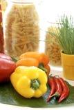 Ainda vida com pimentas Fotos de Stock