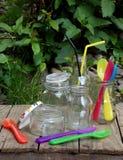 Ainda vida com produtos vidreiros Imagens de Stock Royalty Free