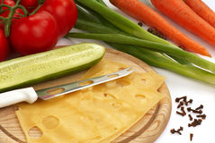 Ainda-vida com queijo Fotos de Stock