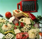 ainda vida com queijo, Imagem de Stock Royalty Free