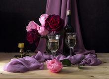 Ainda vida com rosas Imagem de Stock Royalty Free
