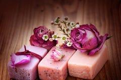 Ainda vida com sabões do aroma Fotografia de Stock
