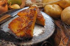 Ainda vida com tortilha Espanola Fotografia de Stock