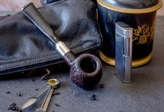 Ainda vida com tubulação e ferramentas Foto de Stock Royalty Free
