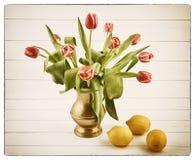 Ainda vida com tulips Fotos de Stock