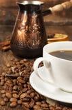 Ainda vida com turco do café Foto de Stock