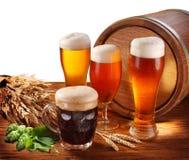 Ainda vida com um barril da cerveja Foto de Stock