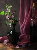 Ainda vida com um vidro do vinho Foto de Stock