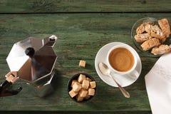 Ainda vida com uma xícara de café Imagem de Stock Royalty Free