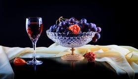 Ainda vida com uvas Imagens de Stock Royalty Free