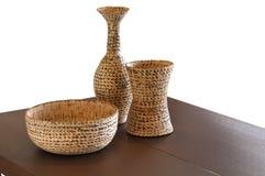 Ainda vida com vasos e a peça central modernos Imagem de Stock Royalty Free