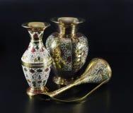 Ainda vida com vasos indianos Imagem de Stock Royalty Free