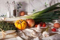 Ainda-vida com vegetais Imagens de Stock