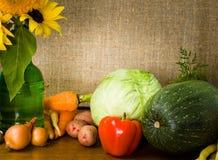 Ainda vida com vegetais Fotografia de Stock
