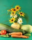 Ainda-vida com vegetais. Fotografia de Stock