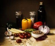 Ainda vida com vegetais Imagens de Stock Royalty Free