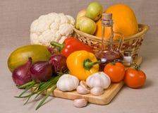 Ainda-vida com vegetais Fotografia de Stock