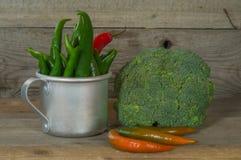 Ainda vida com vegetais Imagens de Stock