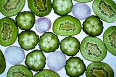 Ainda vida com vegetais e fruta Imagem de Stock Royalty Free
