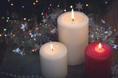 Ainda vida com velas ardentes Imagem de Stock Royalty Free