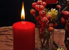 Ainda vida com velas vermelhas foto de stock royalty free