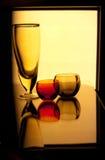 Ainda-vida com vidro Fotografia de Stock Royalty Free