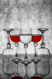 Ainda vida com vidros de vidro com vinho Imagem de Stock