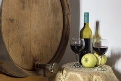 Ainda vida com vidros do vinho Imagem de Stock