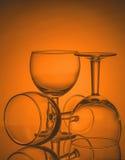 Ainda-vida com vidros vazios Imagens de Stock Royalty Free