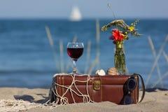 Ainda vida com vinho Foto de Stock Royalty Free