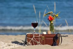 Ainda vida com vinho Fotos de Stock Royalty Free