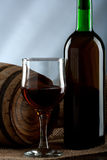 Ainda vida com vinho Imagens de Stock