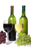Ainda-vida com vinho Imagens de Stock