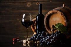 Ainda vida com vinho tinto Imagem de Stock