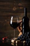 Ainda vida com vinho tinto Imagem de Stock Royalty Free