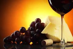 Ainda-vida com vinho vermelho Imagem de Stock