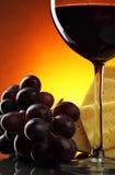 Ainda-vida com vinho vermelho Imagens de Stock