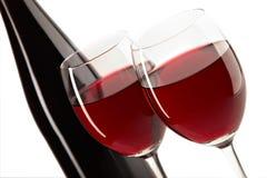 Ainda vida com vinho vermelho Imagem de Stock