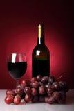 Ainda-vida com vinho vermelho Fotografia de Stock Royalty Free