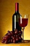 Ainda-vida com vinho vermelho Fotografia de Stock