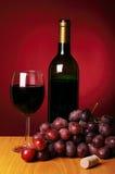 Ainda-vida com vinho vermelho Foto de Stock