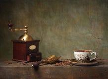 Ainda vida com xícara de café Imagens de Stock