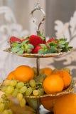 Ainda vida comestível Frutos, bagas, alimento Imagem de Stock Royalty Free