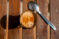 Ainda vida 1 Copo do coffe no verão fotos de stock