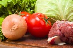 Ainda vida da carne Fotos de Stock