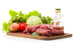 Ainda vida da carne Imagens de Stock Royalty Free