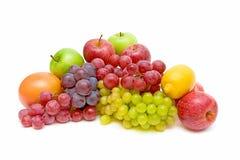 Ainda vida da fruta no fundo branco Fotografia de Stock Royalty Free