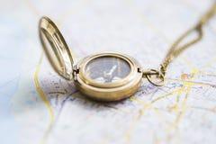 Ainda-vida da navegação com um mapa Imagem de Stock